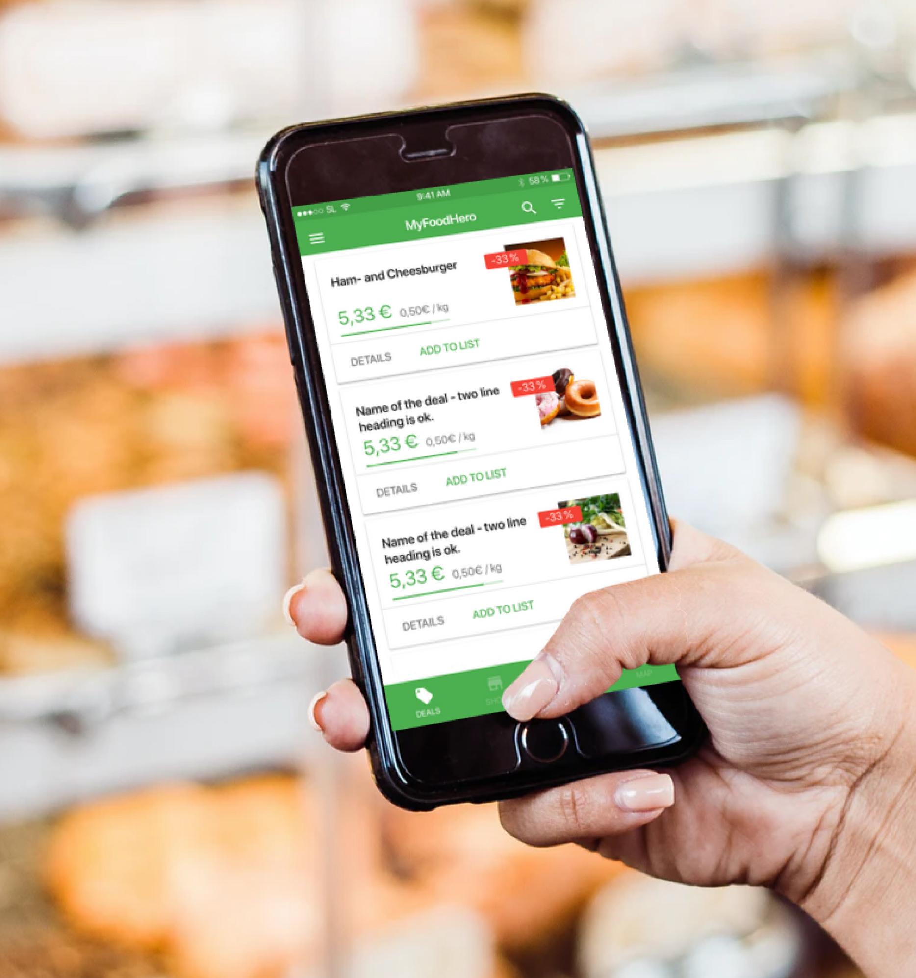 MyFoodHero - Eine Plattform, um Lebensmittel zu retten, bevor sie verschwendet werden.