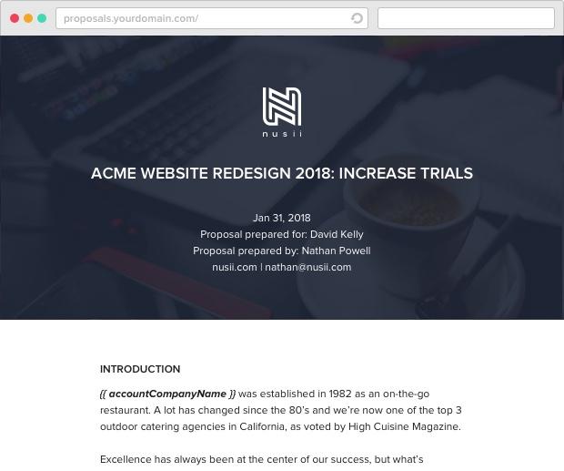 Nusii Web Design Template