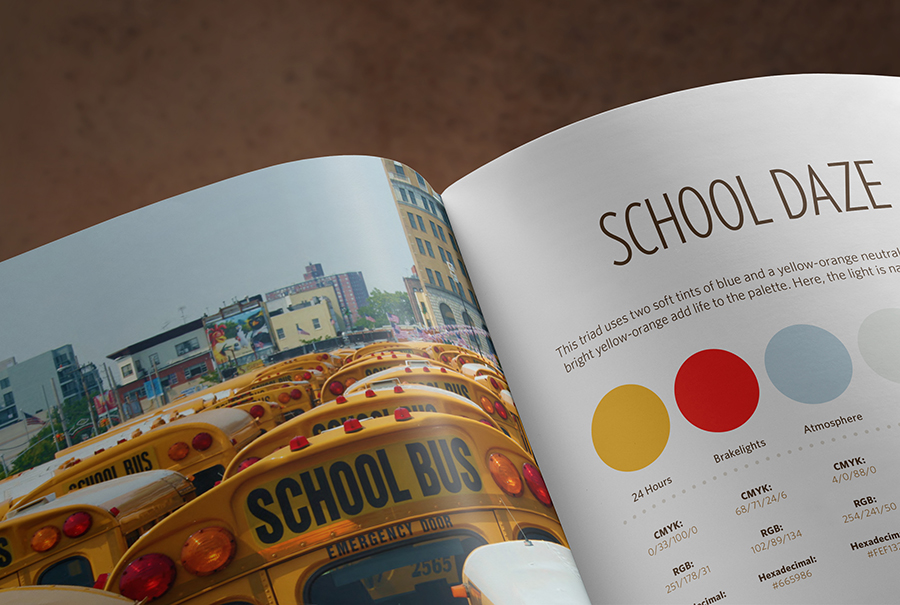 Inner Spread of 24 Hours book