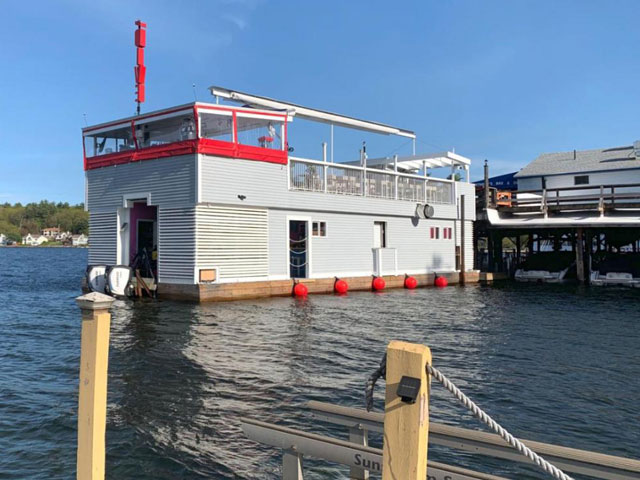 The Dive Boat Bar & Restaurant at Lake Winnipesaukee, New Hampshire