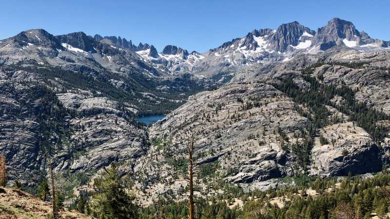 Minarets and Shadow Lake in Ansel Adams Wilderness