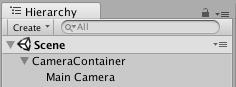 将主摄像机作为一个游戏对象的子项