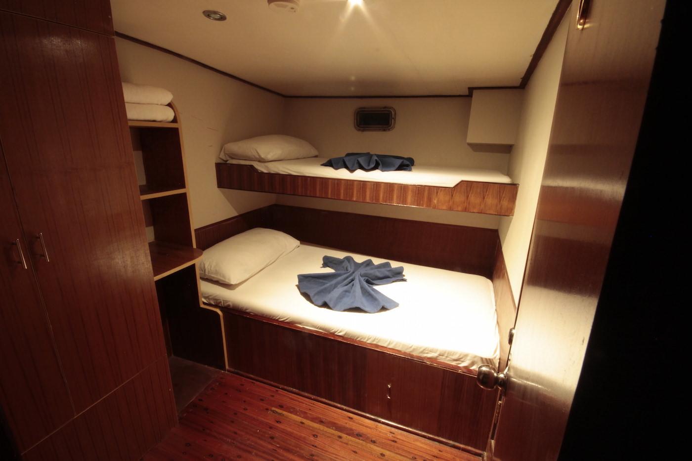 Blue Star Open Boat Surf Charter Maldives Cabins