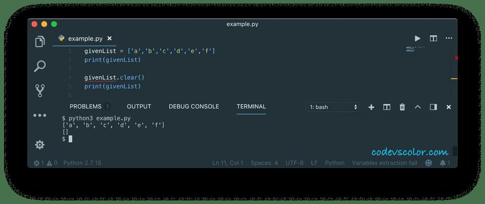 python remove list item