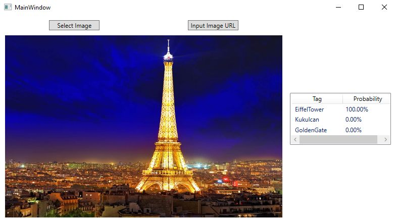 Landscape WPF using ML