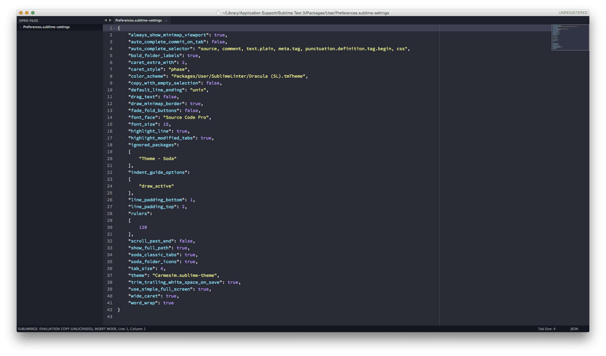 SublimeText 3 Theme and Color