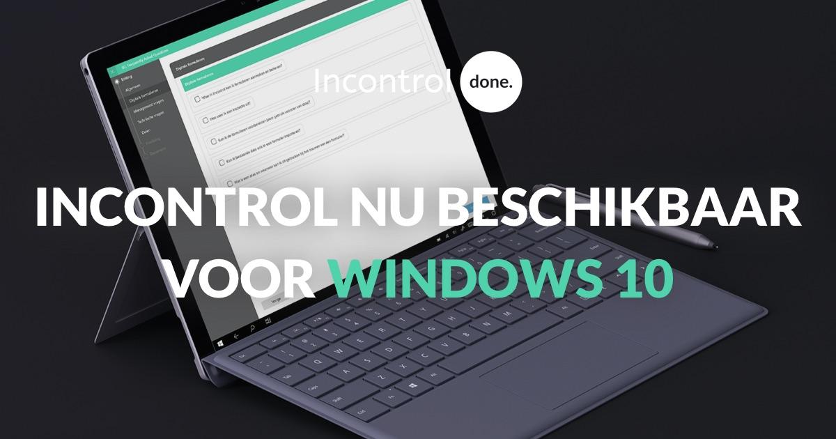 Incontrol nu beschikbaar voor Windows 10]