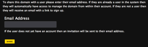 Share User Email Address