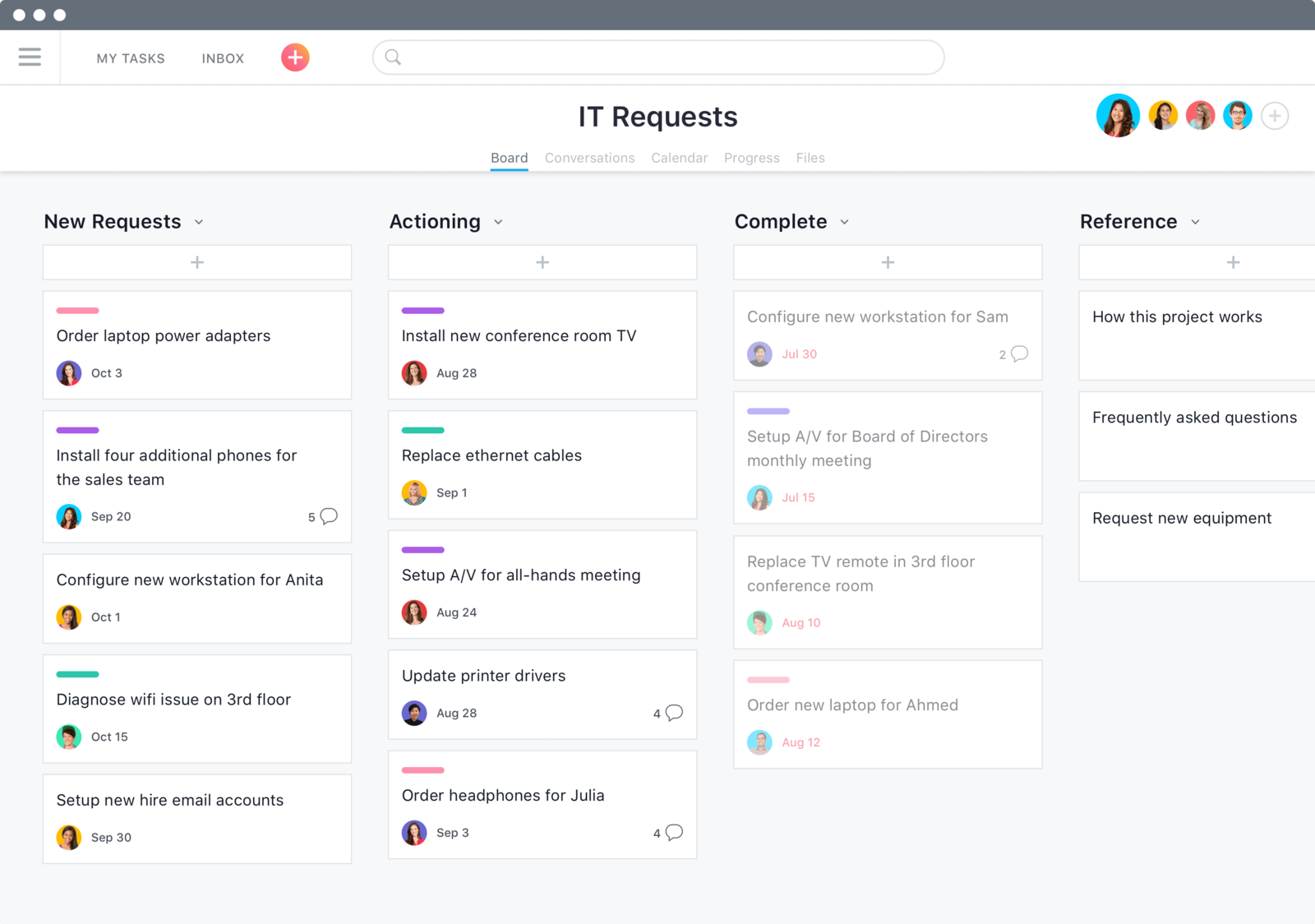 remote project management tool Asana