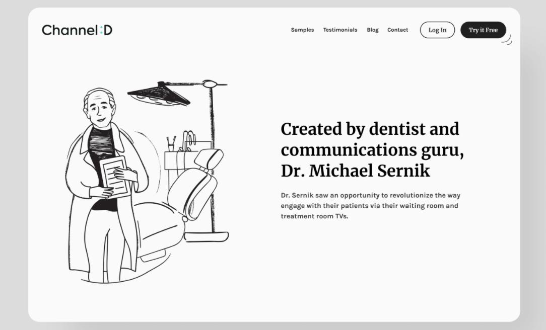 screenshot of website Channel Dental Platform