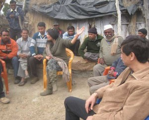 In dialogue with the village folk