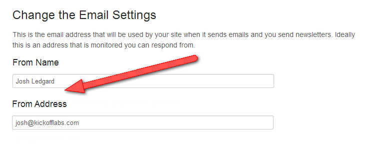 KickoffLabs-Email-Settings