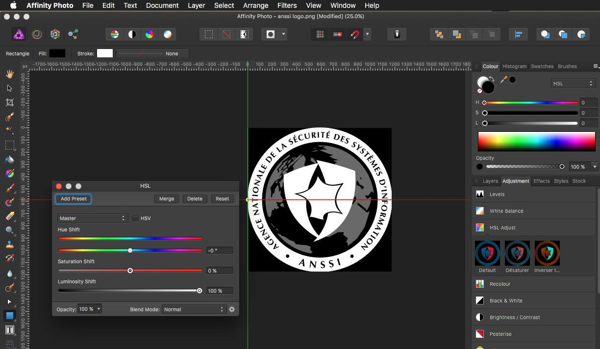 Affinity Photo Luminosité Maximum