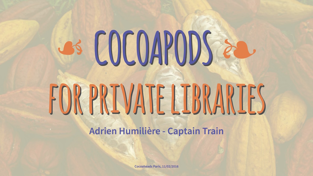 Cocoapods for private libraries