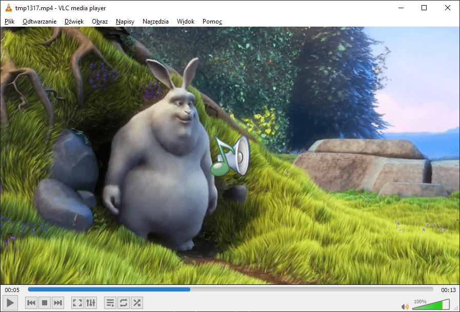 Big Buck Bunny with melted watermark