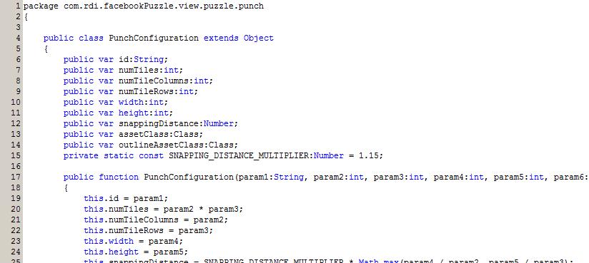 A code listing