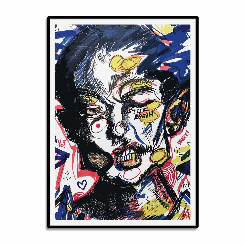 'Stuck Brain' Giclée Art Print