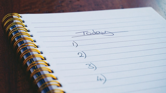 Todo list in a notebook