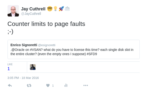 Will the licensing math become related to the number of page faults?