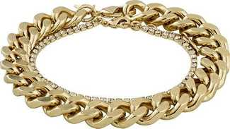 Pilgrim Thick Chain Bracelet & Clear Crystal Band