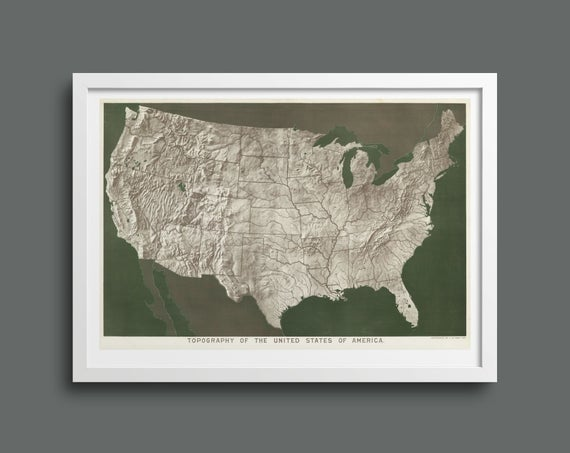 Topography of the USA by Levi Walter Yaggy
