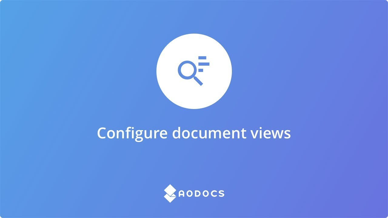 Configure document views's thumbnails