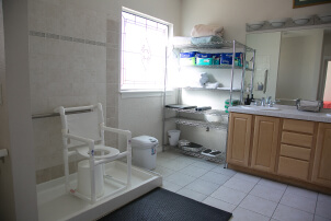 One of our bathing rooms.