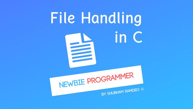 Basics of File Management in C