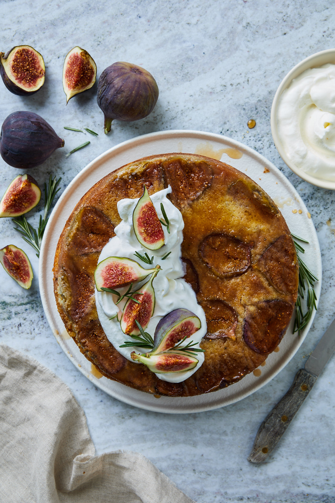 Fig Rosemary Upside Down Cake