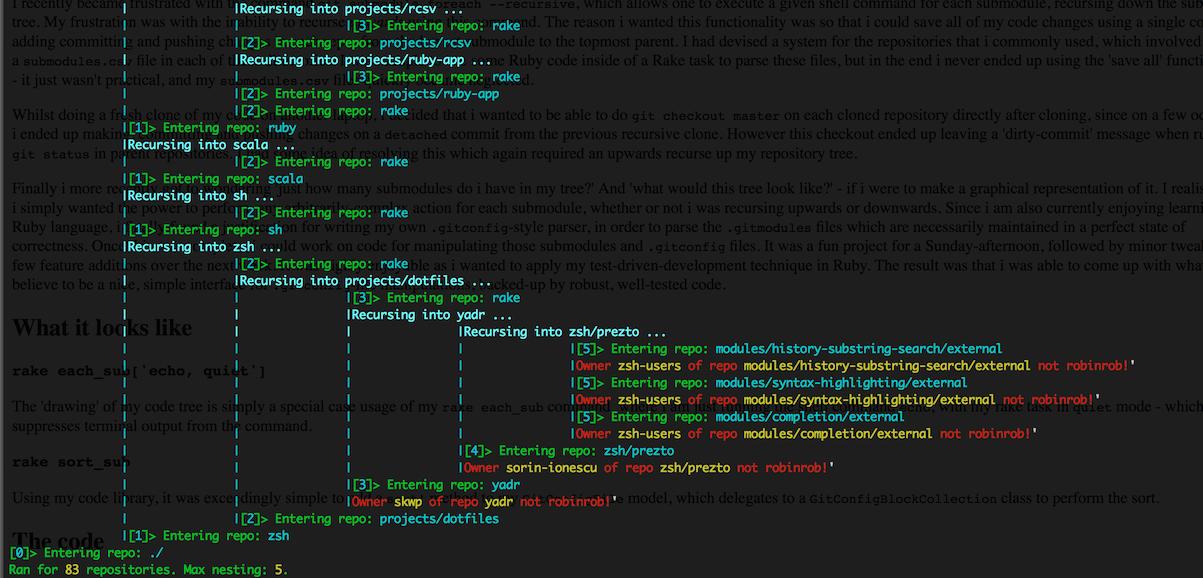 Screenshot showing drawn code tree