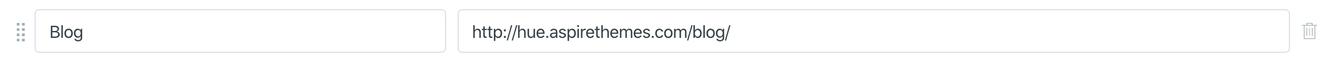 Blog page navigation