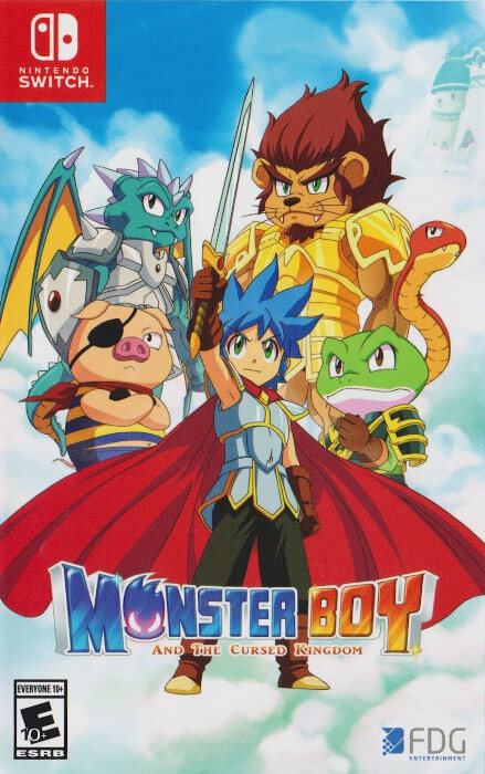 The boxart for Monster Boy and the Cursed Kingdom for the Switch