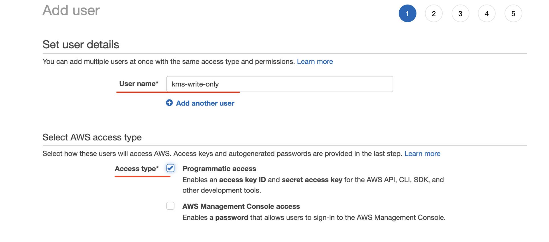 Access type