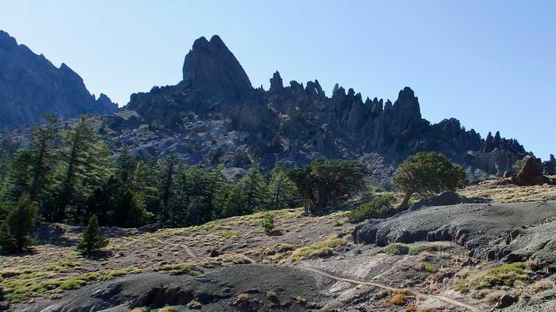 Jagged rocks of Reynolds Peak