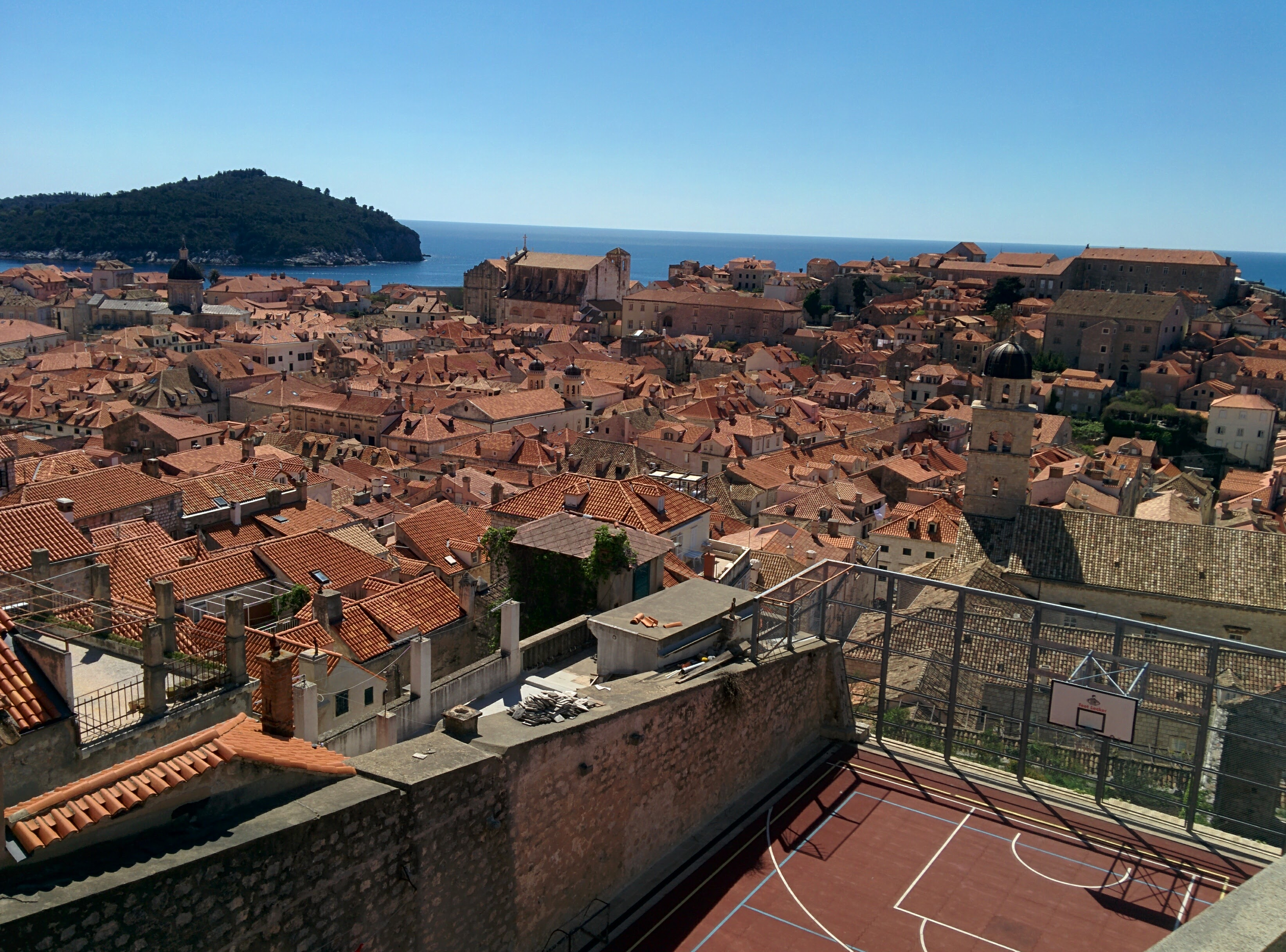 The rooftops of the old city in Dubrovnik.