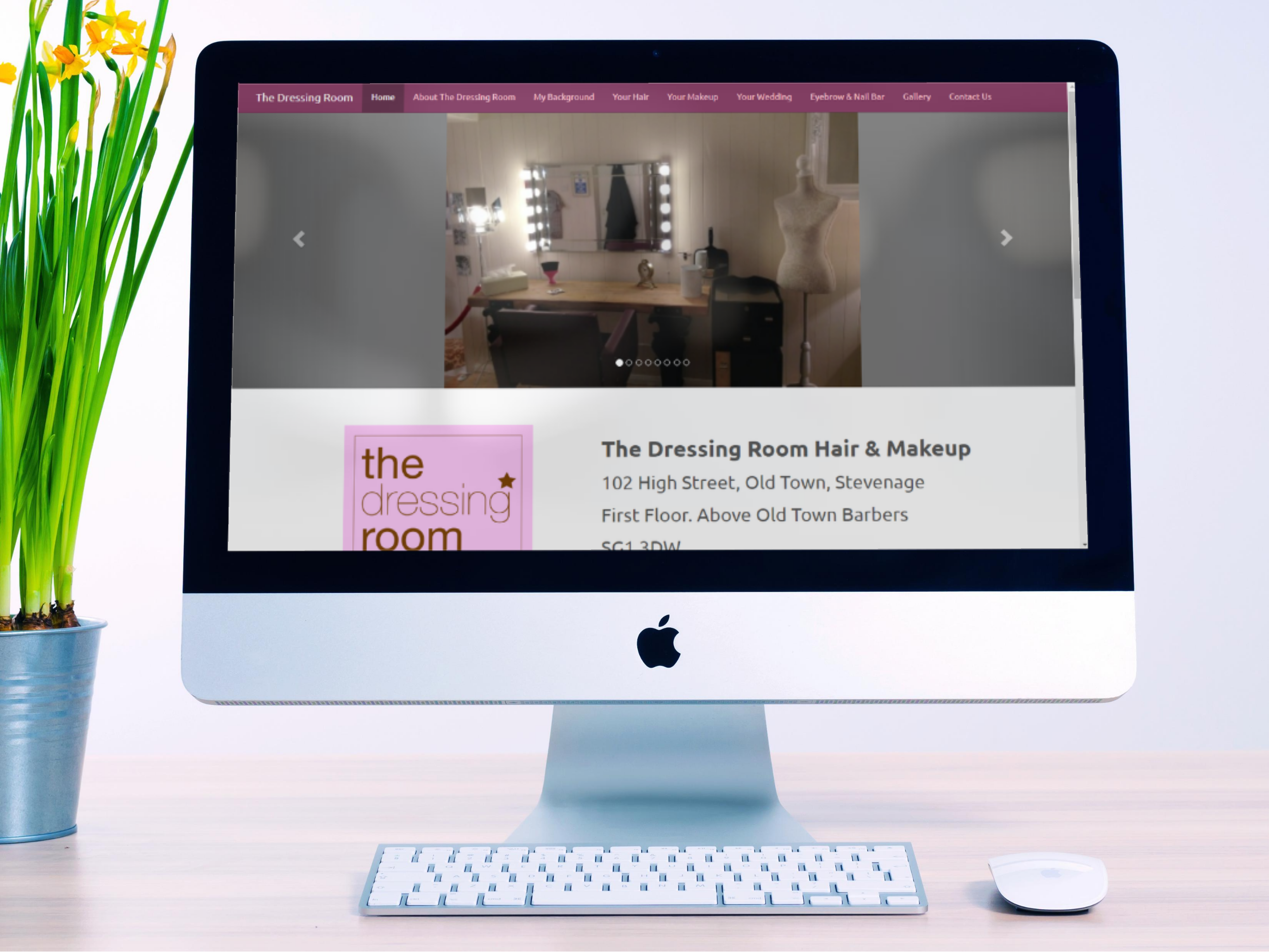 The Dressing Room Hair & Makeup Website