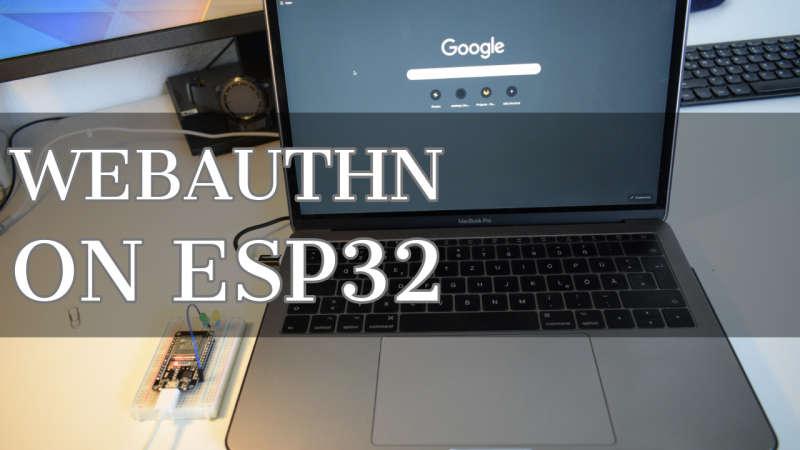 WebAuthN на отладочной плате ESP32