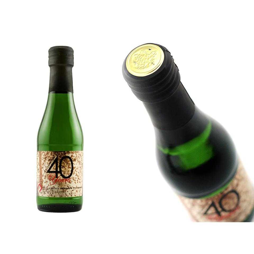 Custom Labeled mini alcohol bottles with employee milestone