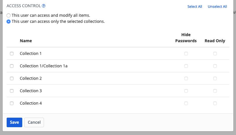 Configure Access Control options