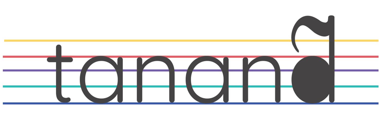 Pauta de partitura com tananã escrito. O a com ~ é uma colcheia