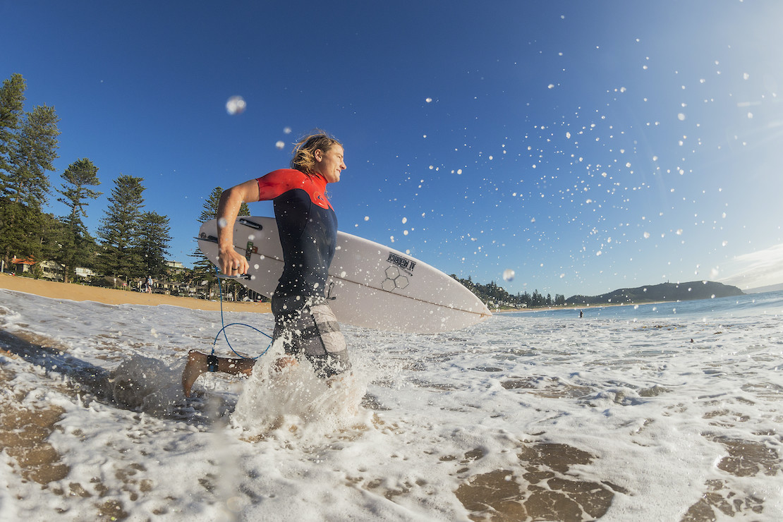 Surfing at Sydney's Palm Beach (credit: Destination NSW)