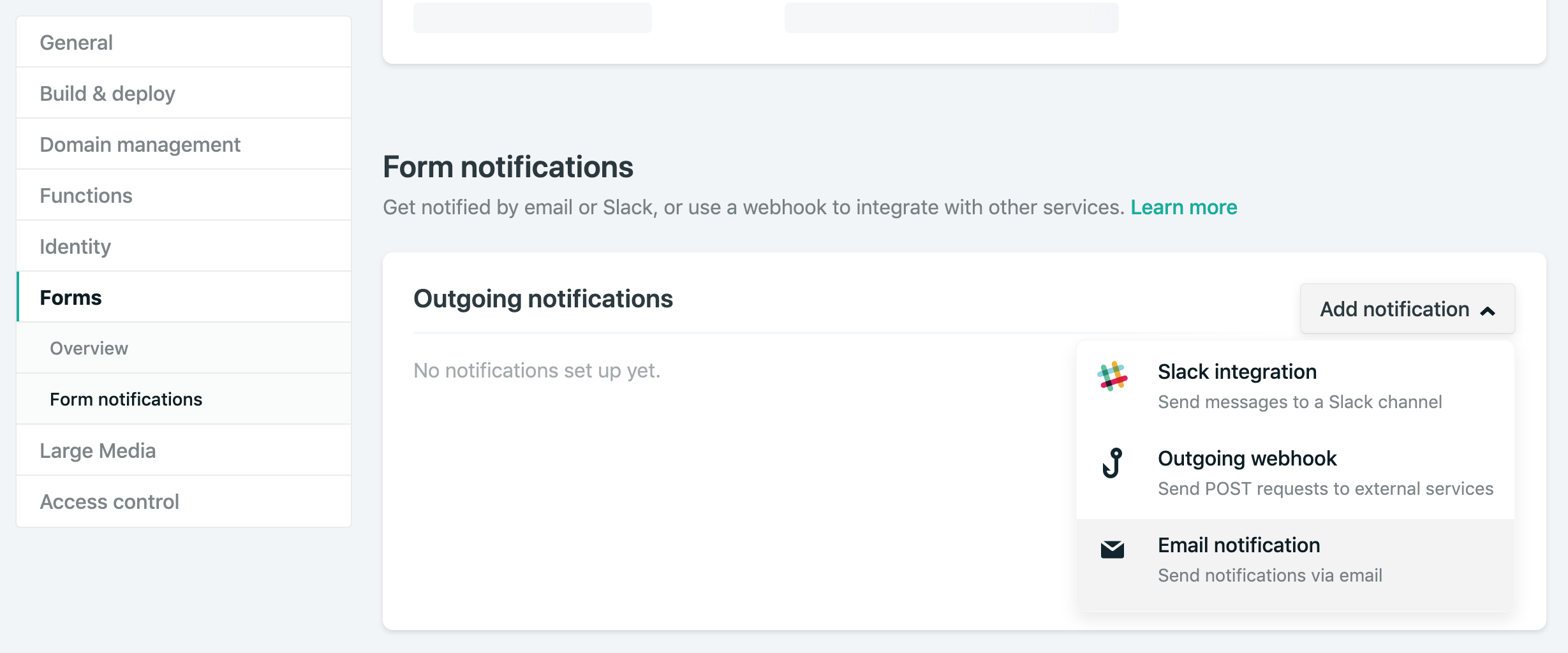 Conditional Email Notifications through Netlify Forms and Hooks