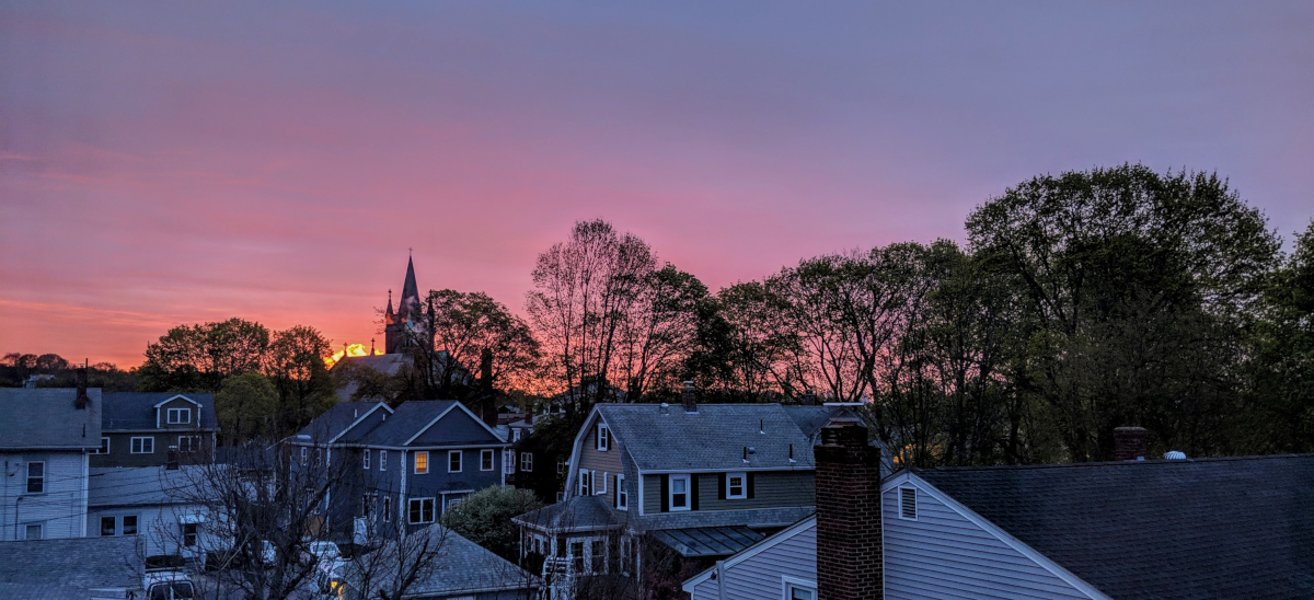 Sunrise over Watertown, Mass.