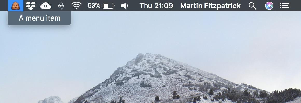 Menubar Icon (MacOS)