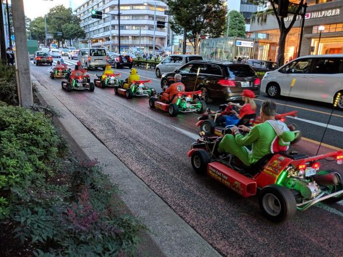 Mario Cart in the Streets of Tokyo