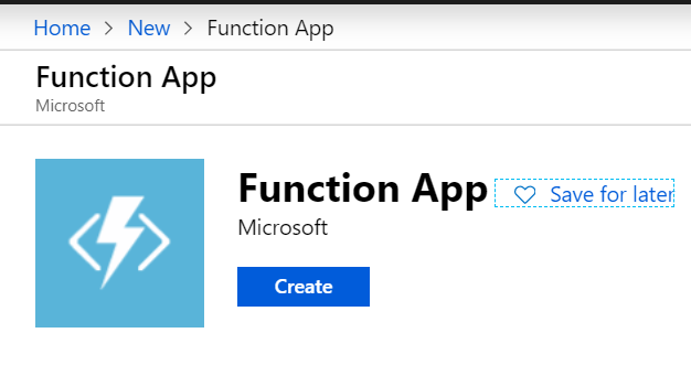 Create a new Functions App