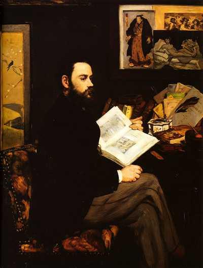 Édouard Manet, Portrait of Émile Zola, 1868, Musée d'Orsay