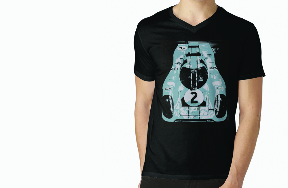 Porsche 917K V-Neck T-Shirt by thespeedart