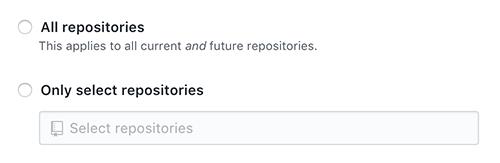 Github App repositories