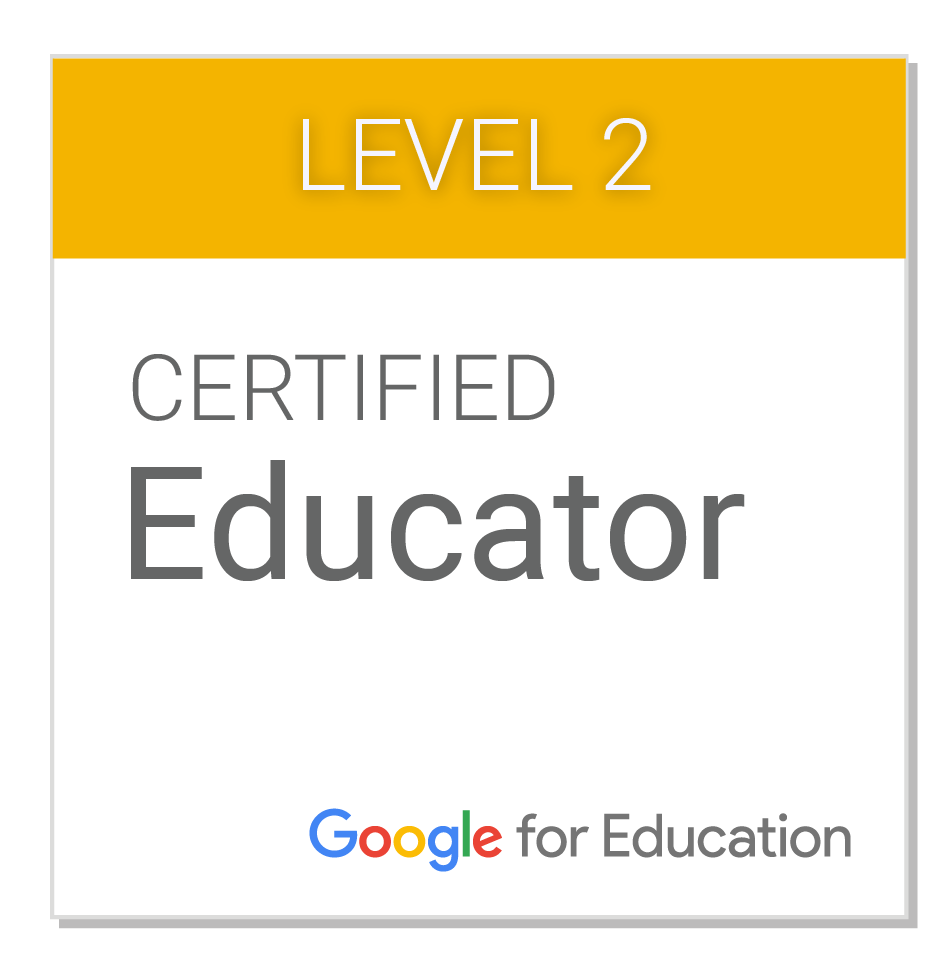 Google Certified Educator Level 2 Badge